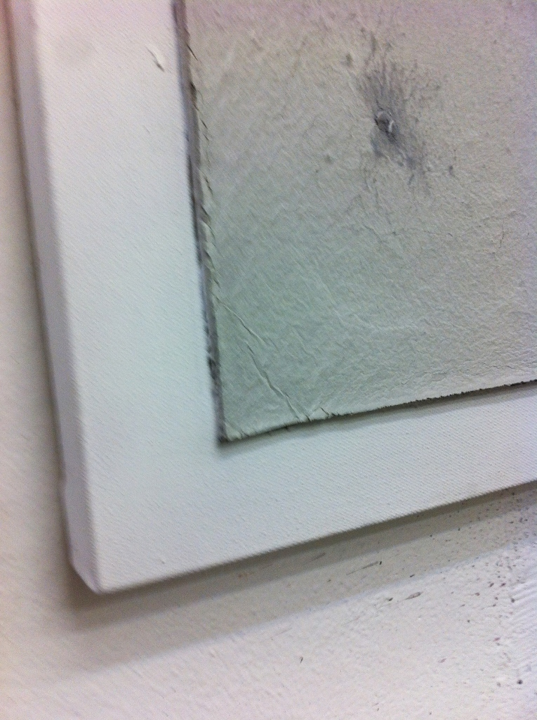 2013, Untitled, 80x40 cm, acrylic and concrete on canvas detail