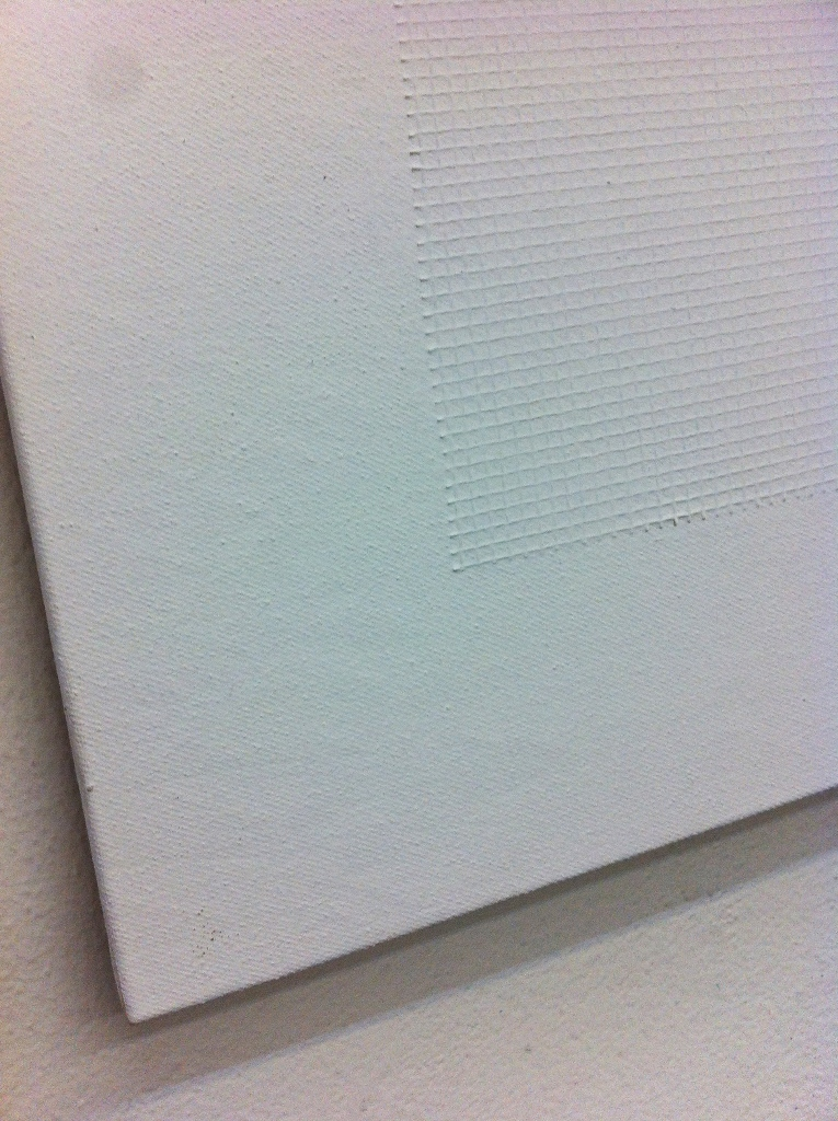 2012, Untitled, 40x40 cm, acrylic and fabric net on canvas detail