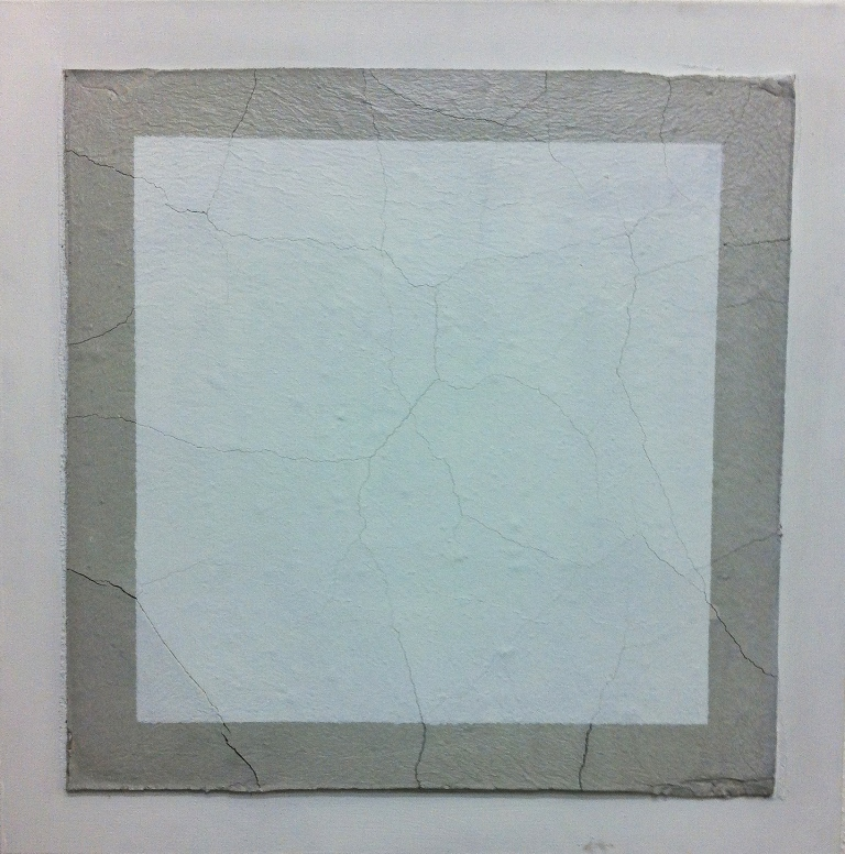 2013, Untitled, 40x40 cm, acrylic and concrete on canvas