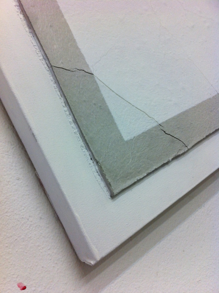 2013, Untitled, 40x40 cm, acrylic and concrete on canvas detail