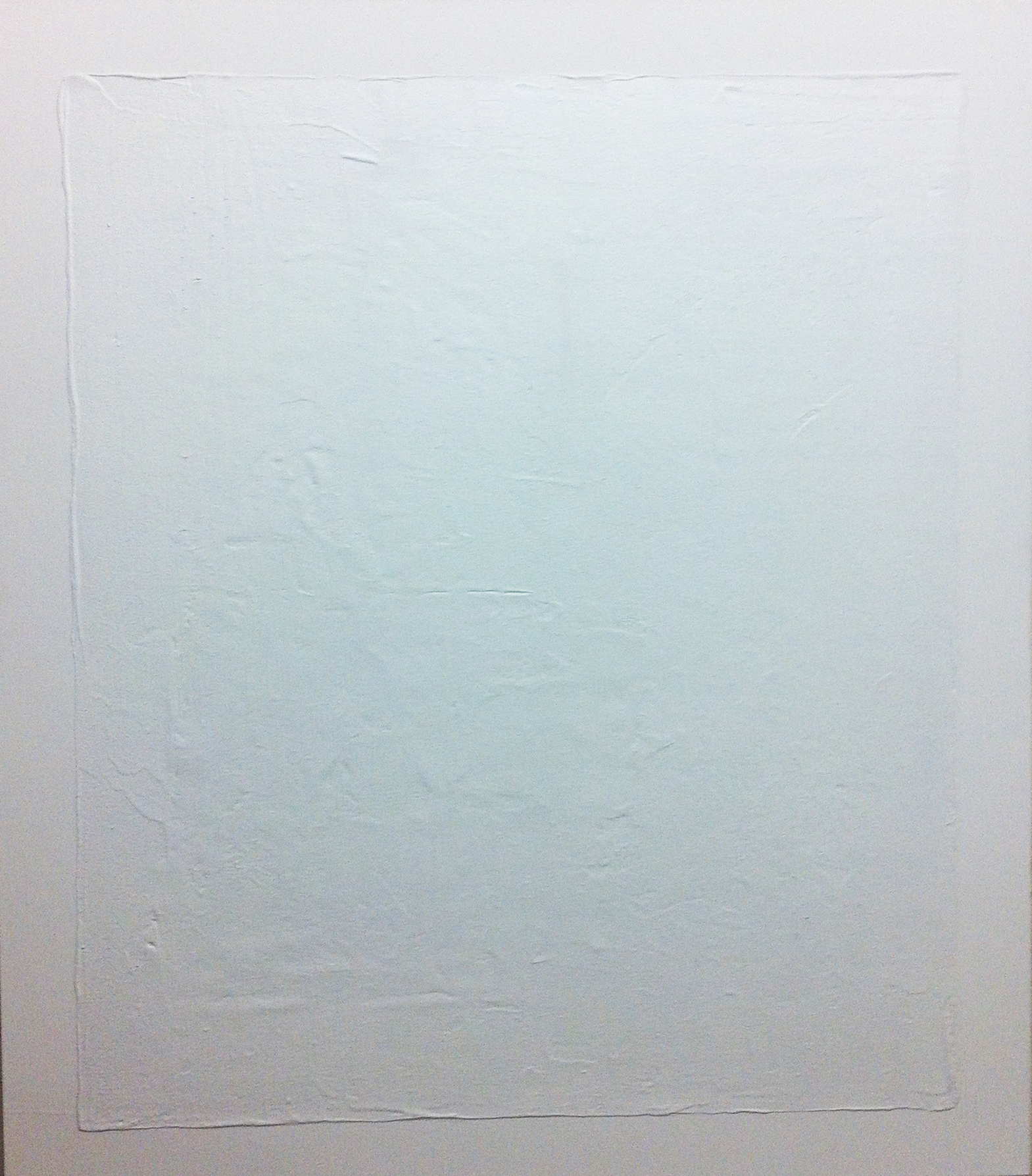 2012, Untitled, 140x120 cm, acrylic and concrete on canvas