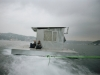 TUNCA, 2005, Floating Slum House, performance with Guido Casaretto