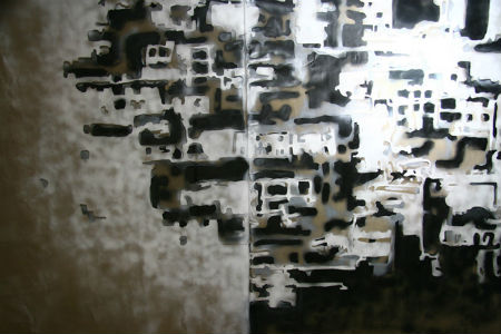 2010, As I remember, 160x280 cm, acrylic on leather
