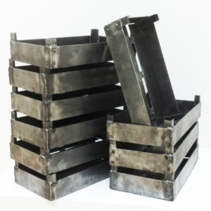 Untitled, 48x27x18 cm, metal crates, 10 pieces, 2013